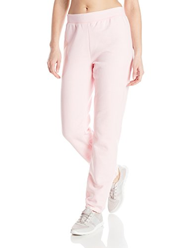 Hanes Women's Mid Rise Cinch Leg Pant, Pale Pink, Small