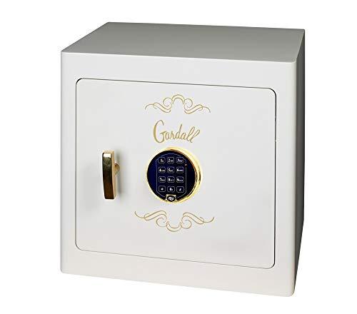 Gardall JS1718 Jewelry Drawer Safe, White, Gold Trim, Digital Lock