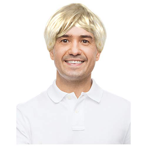 Mens Blonde Wig Fred Wig Freddy Costume Wig Freddy Wig Fred Wig