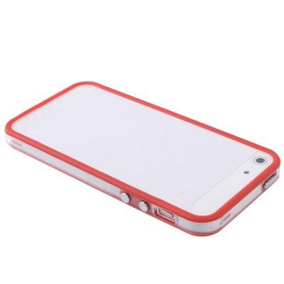 gada - Handyhülle für Apple iPhone 5S 5 5G - Hochwertiger TPU Bumper Cover Case - Transparent rot