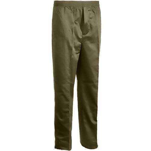 Benefit Wear Mens Full Elastic Waist 5-Pocket Pants with MOCK Fly-Black