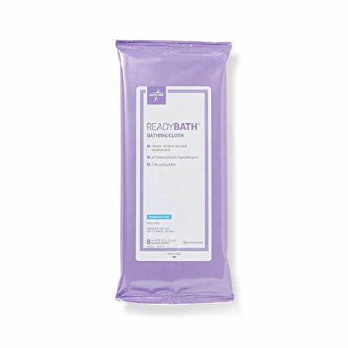 Medline ReadyBath Unscented Body Cleansing Cloths, Standard Weight, 30 Count