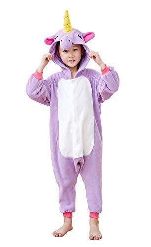 Kids Unisex Animal Pajamas One Piece Anime Onesie Unicorn Costumes Homewear Purple 2-4 by Mybei (Image #1)'