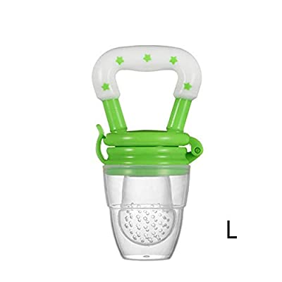 JINGYANHUA 1PC Baby Teether Nipple Fruit Food Mordedor Silicona Bebe Silicone Teethers Safety Feeder Bite Food Teether BPA Free,Green,L: Home & Kitchen