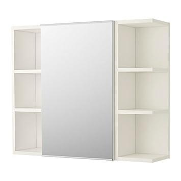 IKEA LILLÅNGEN Spiegelschrank mit einer Tür und 2 Abschlussregalen ...