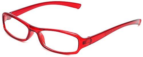 Calabria 8034 Designer Reading Glasses in Red - Designer Red Glasses