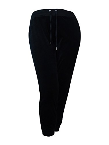 Style & Co. Sport Womens Velour Relaxed Fit Jogger Pants Black XL