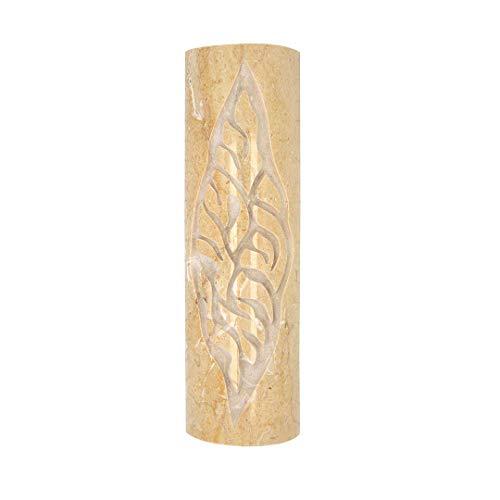 Mezuzah, Mezuza for Jewish Home, Jerusalem Stone Mezuzah Shema Israel Engraved. Size: 4.75