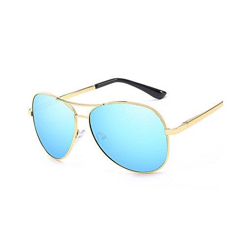 Yxsd Color Hombre para Blue SunglassesMAN 400 Sol Gafas Protección Marco Oro UV de Aviator de polarizadas ROwgpdqg