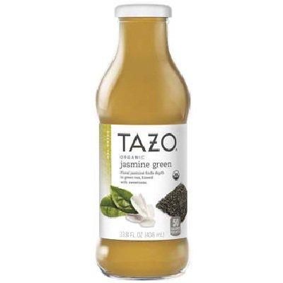 Tazo Organic Jasmine Green Iced Tea, 13.8 Fluid Ounce -- 12 per case.