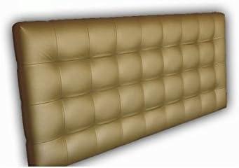 Ventadecolchones - Cabecero Tapizado Acolchado de Dormitorio Modelo Cube el Polipiel Dorado y Medidas 151 x 70 cm para Camas de 135 ó 150