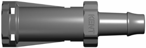Kent Systems 3AX216-009 Gray Acetal/Nylon Collection, 3 Shut-Off Tube Fitting, Quick Coupling, 1/4