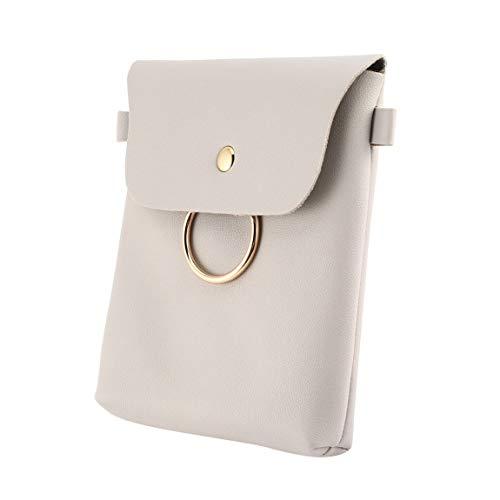 SeniorMar Soft con Decor Single Holder Round Strap Niñas Casual Cerrojo Bag Loop Messenger Bags Phone Mujeres Phone Pouch con PU Shoulder rrqdRT
