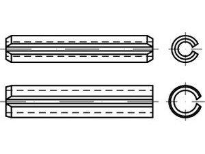 200x ISO 13337 Spannstifte Federstahl 2,5 x 16 S