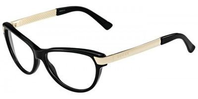 Gucci GG3652 Eyeglasses-0ANW Black Gold-54mm by Gucci