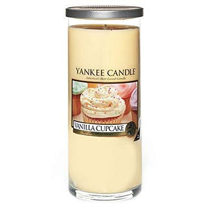Vanilla Cupcake Large Pillar Candle,Fresh Scent by Yankee candles co.,