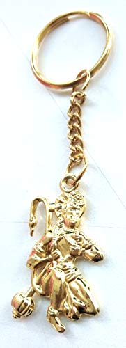 - DevDeep Pure Brass Lord Hanuman BAJARANG Bali Bajarangi Bhaijaan Key Ring/Key Chain/Tassel Bring The Heavenly Blessings to Your Home
