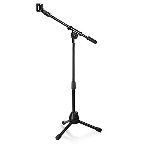 Neewer¨ NW-212 Mini Tripod Microphone Stand with Stable Folding Tripod Base, Telescoping Boom and Mic Clip, Adjustable