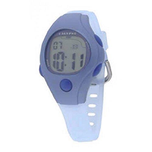 Calypso K6006/5 - Reloj digital de caballero con cronómetro, alarma y luz. Color azul: Amazon.es: Relojes