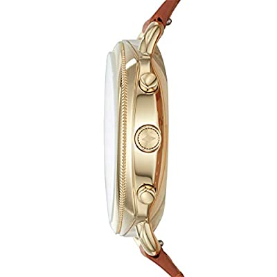 Fossil Women's Accomplice Stainless Steel and Leather Hybrid Smartwatch, Color: Gold, Tan (Model: FTW1201) from Fossil Watches