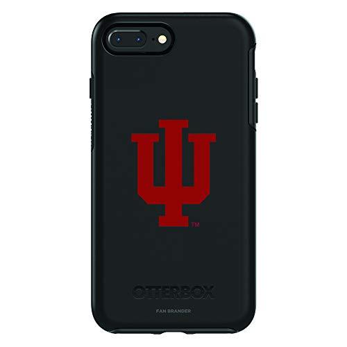 Fan Brander NCAA Black Phone case, Compatible with Apple iPhone 8 Plus and Apple iPhone 7 Plus and with OtterBox Symmetry Series (Indiana Hoosiers)