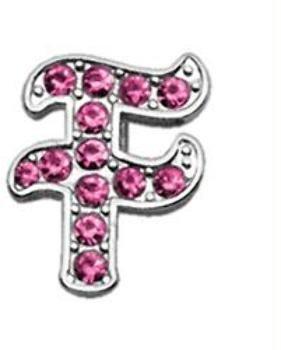 3/8'' Pink Script Letter Sliding Charms F . Case Pack 48 3/8'' Pink Script Le... by DSD