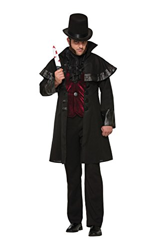 (Forum Men's Jack The Ripper Deluxe Costume, Black/Red,)