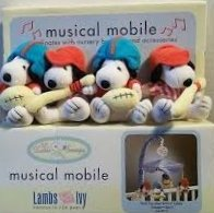Peanuts Baby Snoopy Sport Musical Mobile - Lambs & Ivy (Musical Snoopy Mobile)