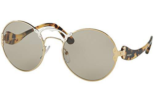 Prada PR55TS Sunglasses Pale Gold Silver w/Grey 57mm Lens ZVN5J2 SPR55T PR 55TS SPR 55T