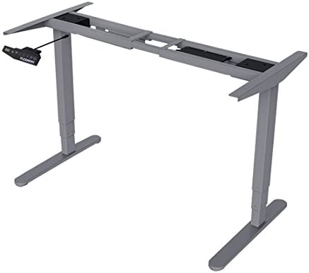 Frame Only iMount E21S Electric Standing Desk//Ergonomic Height Adjustable Sit-Stand Workstation Silver