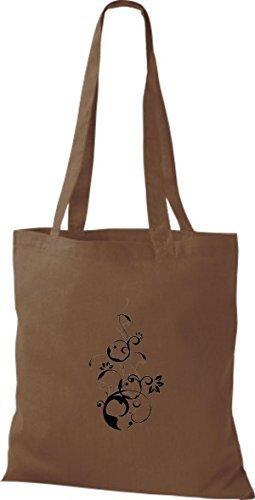 Shirtinstyle - Bolso de tela de algodón para mujer - chestnut