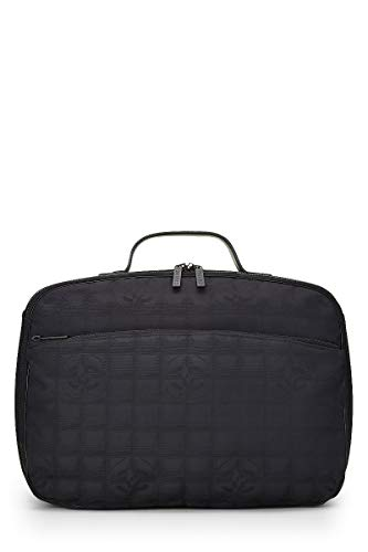 CHANEL Black Nylon Travel Line Suitcase (Pre-Owned)