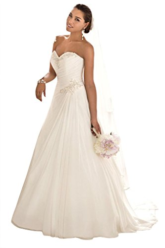 2017 New Sexy Strapless A Line Wedding Formal Gowns Long Bride Dresses