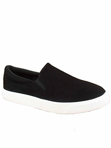 Flat Reign Deck Toe On s Shoes FZ Classic Women's Heel Fashion Slip Black Round Sneaker xdT0ngq47