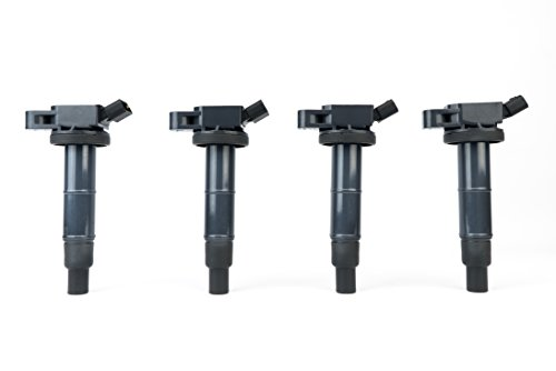 Ignition Coil Pack Set of 4 - Fits Toyota Camry, Corolla, Solara, RAV4, Scion tC, xB, Lexus HS250h and more 2.0L, 2.4L models- Replaces 90919-02244, UF333, C1330, 6731307 - For Year Models 2001-2012