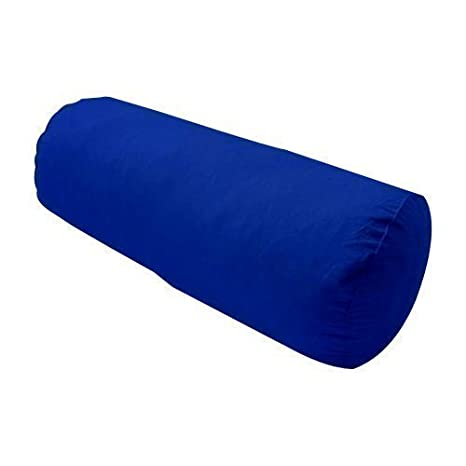Color azul 100% algodón cojín rodillo cojín de fibra hueca ...