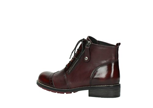 Combi Lacets Comfort Leather à Millstream Bottines 39510 Wolky Burgundy ntFqatw0U