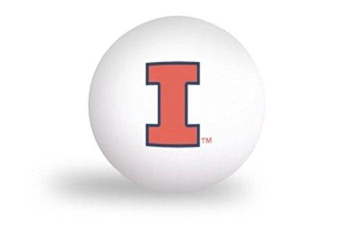 NCAA University of Illinois Illini 6 pack Ping Pong Balls