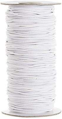Nouveau Plat Blanc Tissé élastique 1 m 1xcm