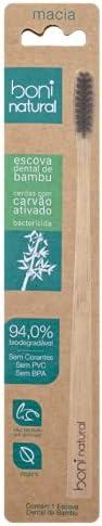 Escova de Dente de Bambu, Com cerdas vegetal de Carvão Ativo, Livre de PVC, livre BPA e livre de Corantes, Emb