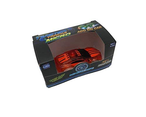 Mindscope Twister Tracks Micro Neon Glow in The Dark Add-on Rechargeable Car (Toy Micro Chargers Cars)