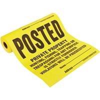 Hyko Prod. - Hy-Ko Tyvek Posted Legal Sign (Tyvek Sign)