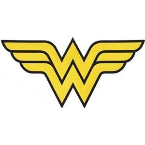 amazon com dc comics wonder woman logo size 3 25 x 3 ironed or rh amazon com wonder woman logo template wonder woman logo shirt