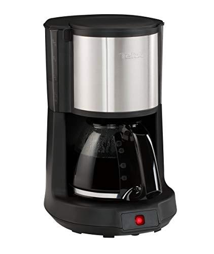 Tefal CM 3708 Cafetera de Goteo, 1000 W, 1.25 litros, 43 Decibeles, Negro/Acero Inoxidable