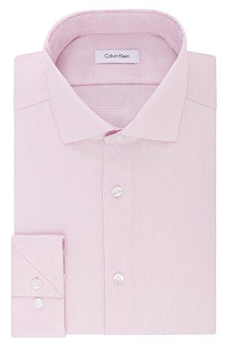 (Calvin Klein Men's Dress Shirt Slim Fit Non Iron Stretch Solid, Blossom, 15.5