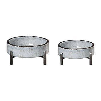 2-Pc Pale Bowl Set in Gray (2 Accents Uttermost Home)