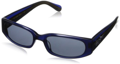 Black Flys Fly 9000 Wrap Sunglasses - Navy Blue Striped -...