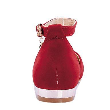 Cómodo y elegante soporte de zapatos de las mujeres pisos primavera verano otoño otros forro polar oficina y carrera vestido casual soporte de talón hebilla de purpurina brillante hollow-outblack azul negro