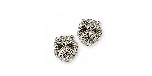 Westie Earrings Jewelry Sterling Silver Handmade West Highland White Terrier Earrings D10H-E