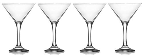 Milano Glassware - Epure Milano Collection 4 Piece Glass Set (Martini Glass (6 oz))